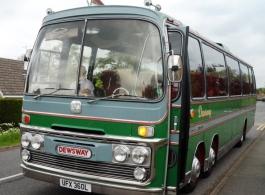 Vintage wedding coach hire in Huntingdon